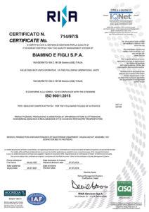 Certificazione qualità RINA